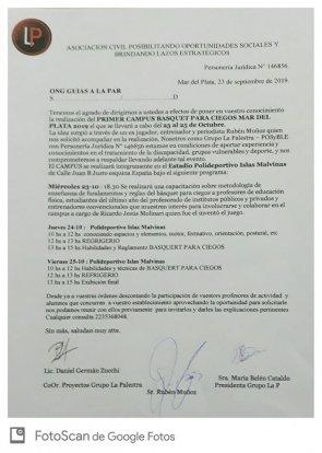 Invitación Formal Campus de BpC en Mar del Plata