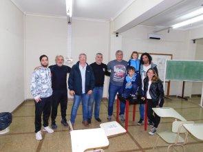 Reunión de trabajo en el Salón Moure, cedido por el Club Atlético Quilmes.